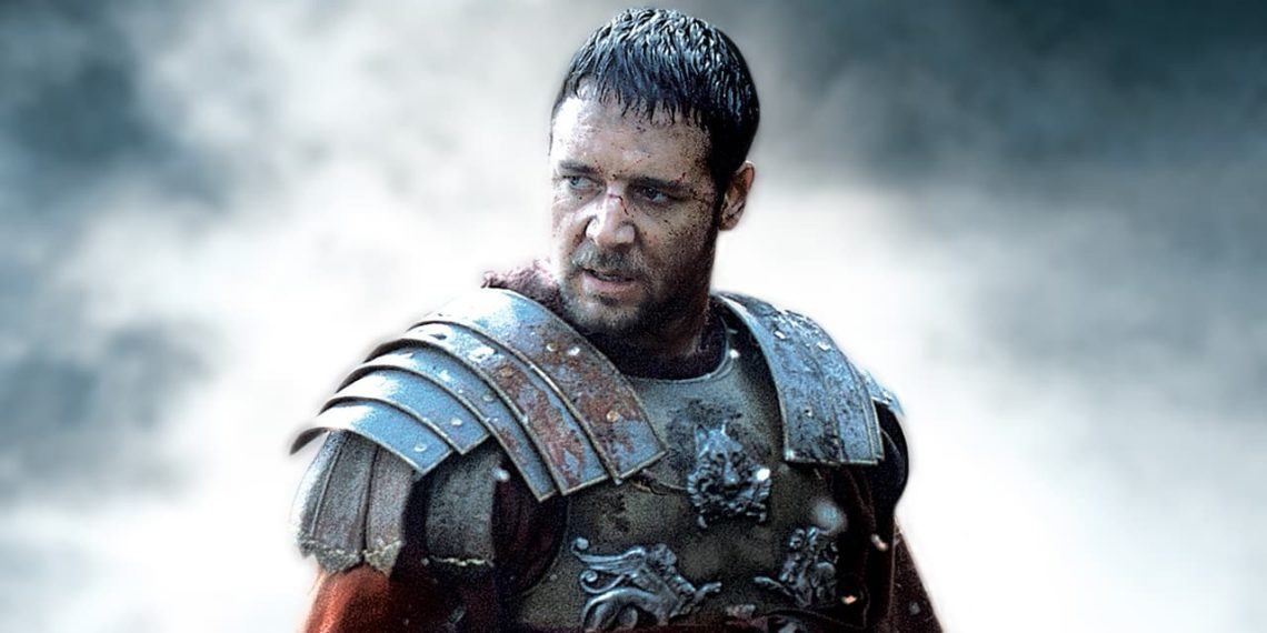 Russell Crowe come Il Gladiatore
