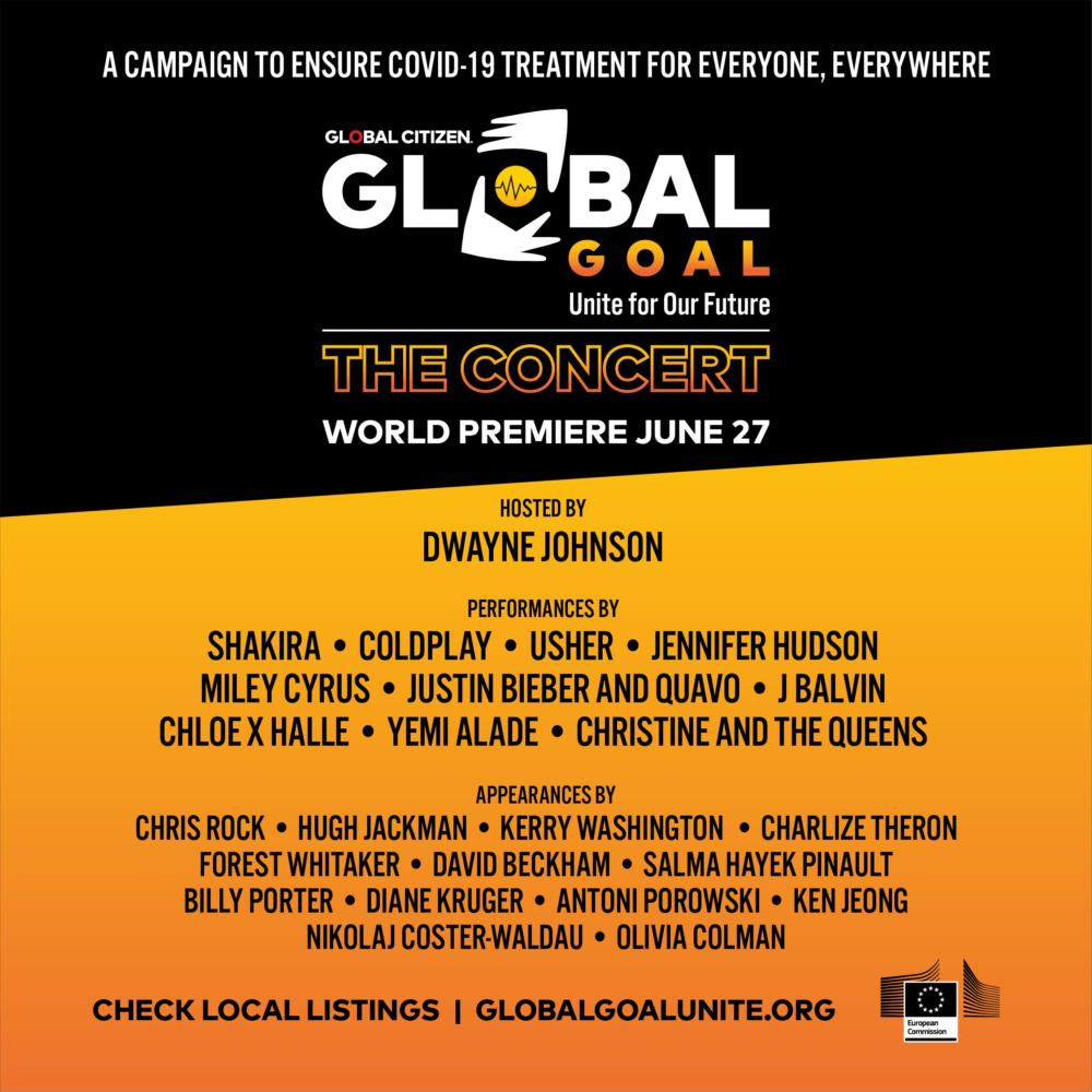 Programma dell'evento di Global Goal Unite for Our Future the Concert