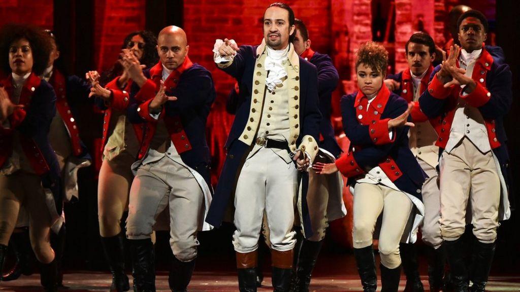 Lil-Manuel Miranda e il cast del musical Hamilton