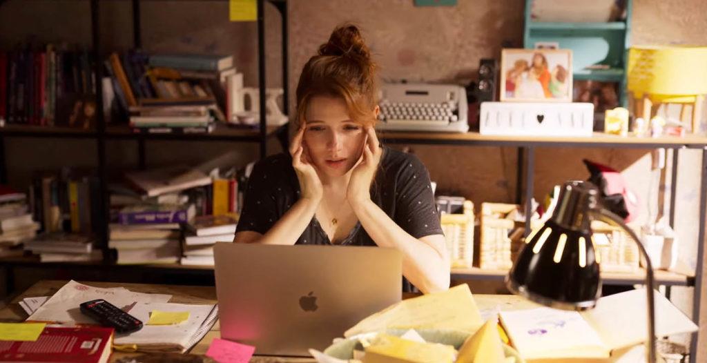 Valeria durante uno dei suoi blocchi dello scrittore
