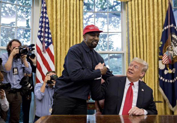 Kanye West insieme al Donald Trump