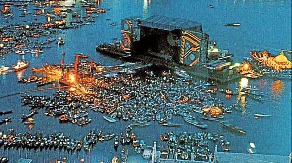 Foto concerto dei Pink Floyd a Venezia