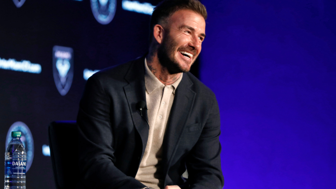 David Beckham sorridente ad un evento