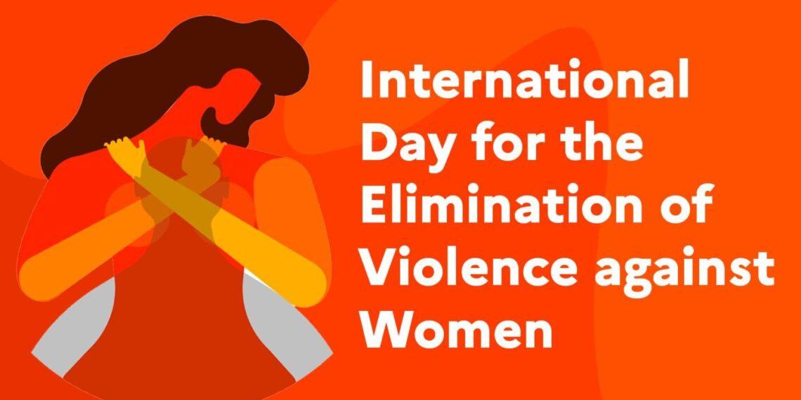Locandina dell'Onu per la Giornata Internazionale contro la violenza sulle donne