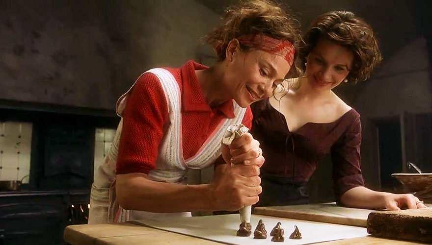 "Una scena del film ""Chocolat"""