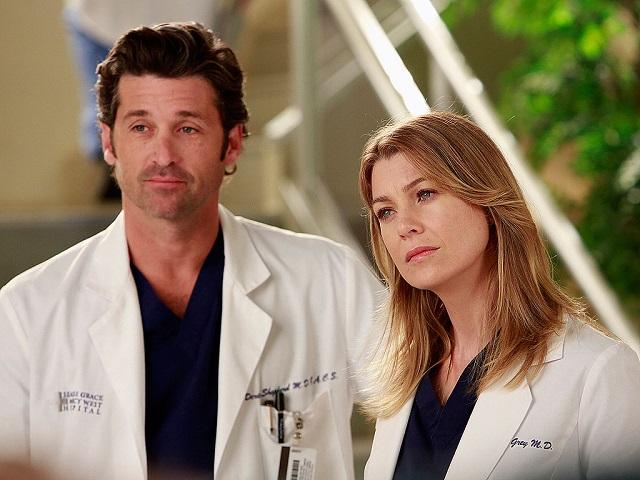 Patrick Dempsey e Ellen Pompeo in una scena di Grey's Anatomy