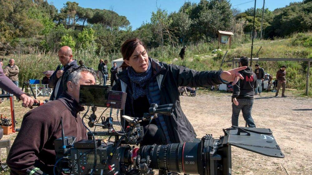 Francesca Comencini sul set della serie Django