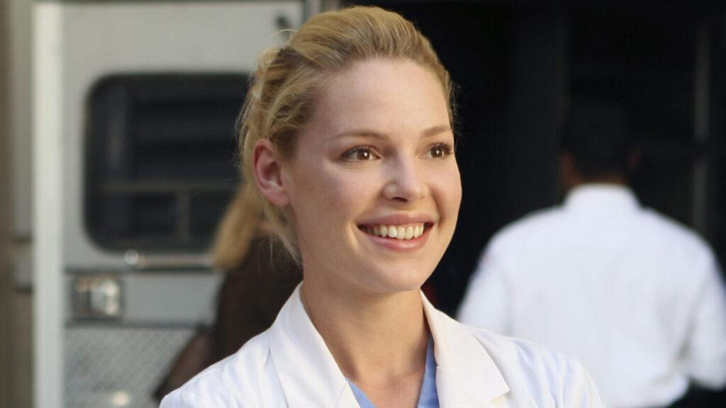 L'attrice Katherine Heigl in Grey's Anatomy