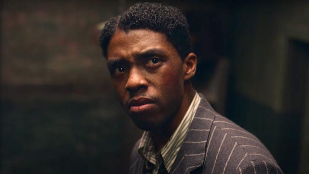 L'attore Chadwick Boseman in Ma Rainey's Black Bottom