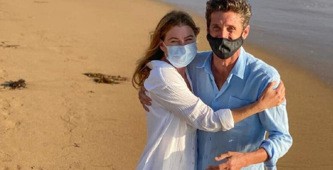 Ellen Pompeo e Patrick Dempsey in Grey's Anatomy