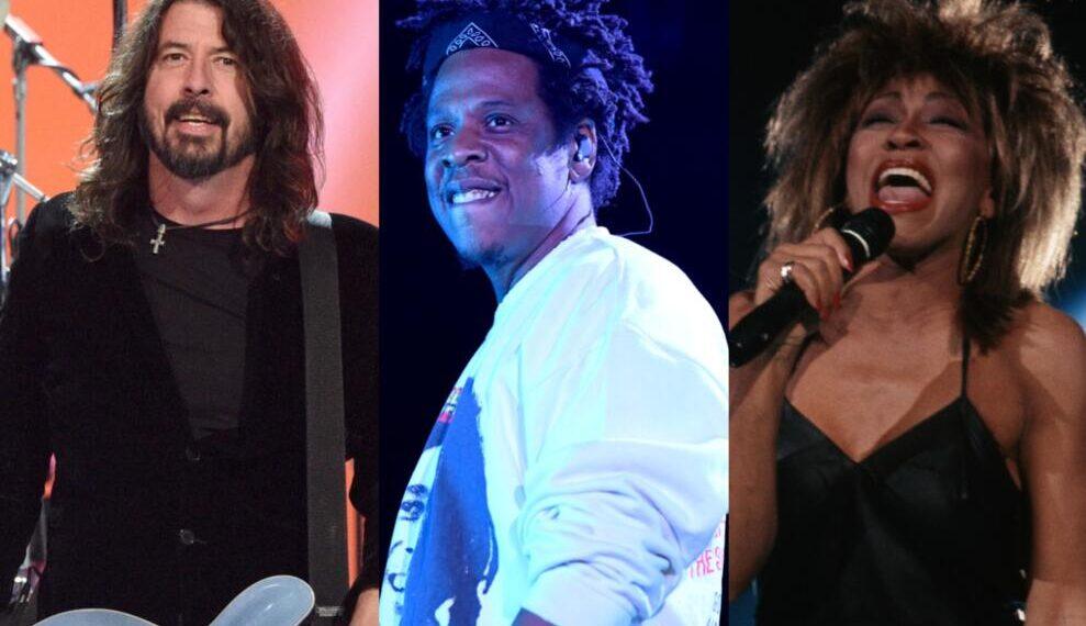 AY-Z, Foo Fighters e Tina Turner