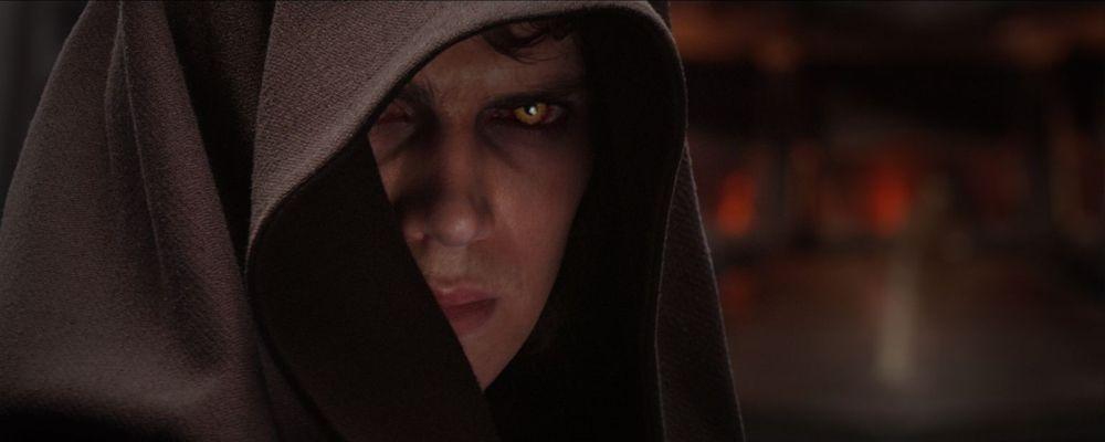 Hayden Christensen nel ruolo di Anakin Skywalker