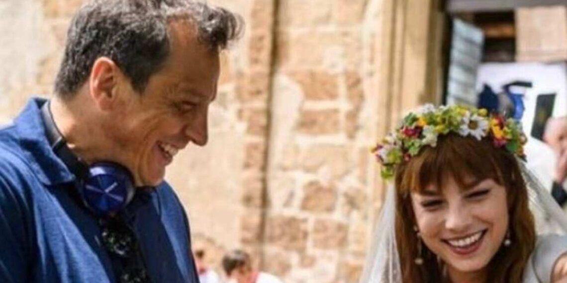 Emma Marrone e Gabriele Muccino sul set del film Gli anni più belli