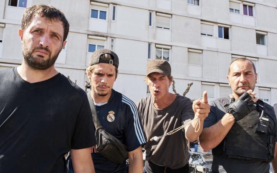 Gilles Lellouche, Cédric Jimenez, François Civil, e Karim Leklou in BAC Nord