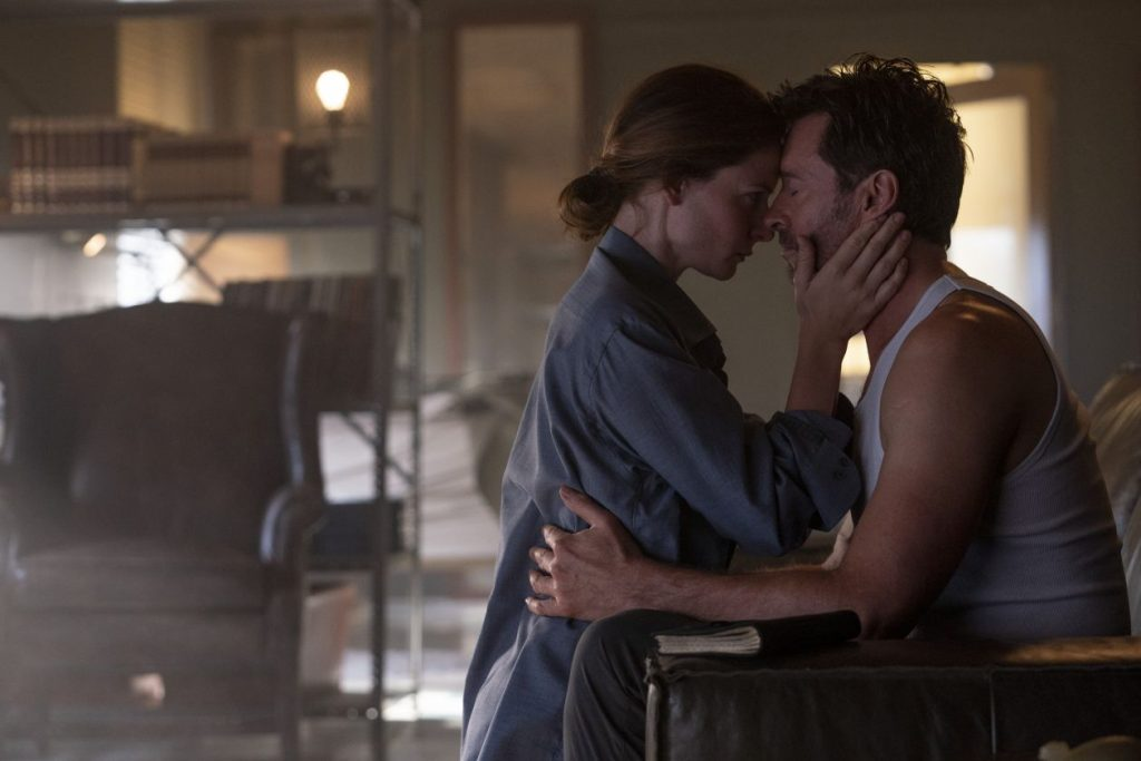 Rebecca Ferguson and Hugh Jackman in Reminiscence
