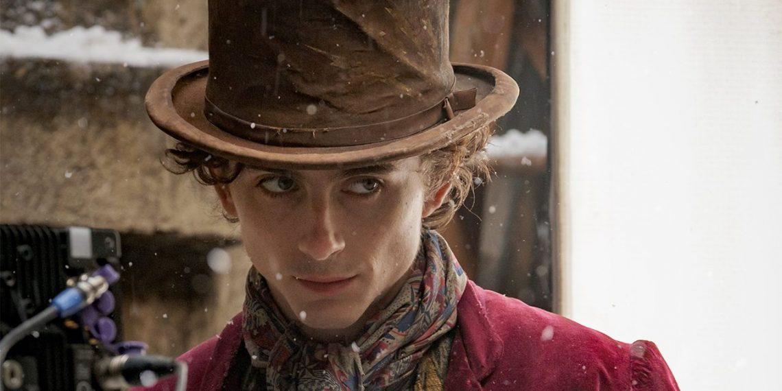Timothée Chalamet Willy Wonka foto